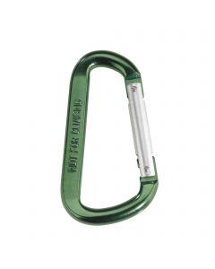 Snap hook - aluminum, asymmetric, 80 mm