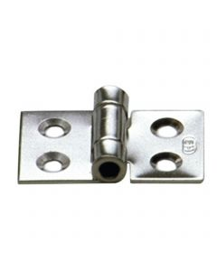 Hinge 4 drill holes - stainless steel,  50 x 30 mm