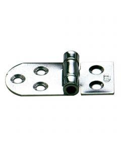 Hinge 5 holes - stainless steel, 65 x 30 mm