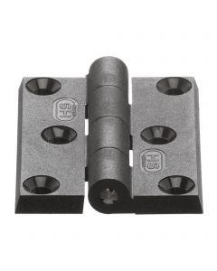 Hinge 6 drill holes - plastic,  50 x 65 mm