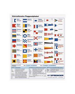 Flaggenalphabet - Aufkleber, 20 x 17,5 cm