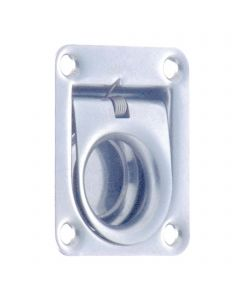 Floor ring with return clip