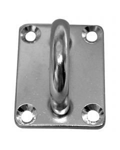 Pad eyes rectangular - stainless steel