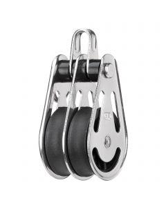Gleitlager-Block 10 mm - 2 Rollen, Bügel