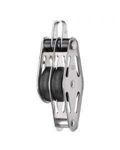 Sliding bearing block 8 mm - 2 sheaves, bow, becket