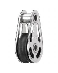 Sliding bearing block 6 mm - 1 sheave, hollow axles