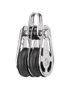 Gleitlager-Block 6 mm - 2 Rollen, Bügel