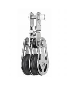 Gleitlager-Block 6 mm - 2 Rollen, Wirbel