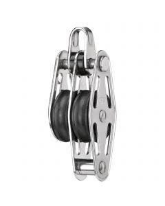 Sliding bearing block 6 mm - 2 sheaves, bow, becket