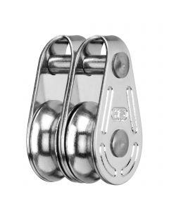 Super Mini block sliding bearing 4 mm - 2 sheaves