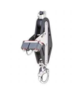 Mainsheet block sliding bearing 14 mm - 2 sheaves, cam cleat, shackle