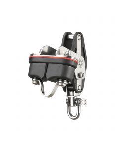 Mainsheet block ball bearing 10 mm - 1 sheave, swivel, becket, cam cleat