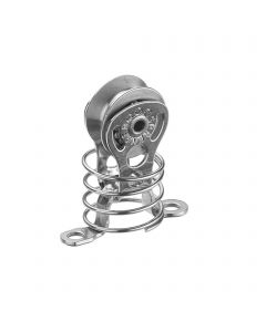 Micro XS block for wire ball bearing 4 mm - 1 sheave, through bow, spring, fender cleat