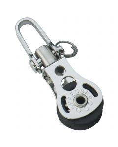 Micro XS block ball bearing 6 mm - 1 sheave, swivel
