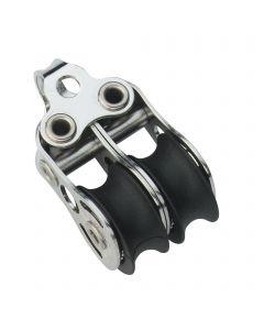 Micro XS Block Kugellager 6 mm - 2 Rollen, Bügel