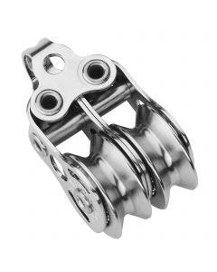 Micro XS Block für Draht 4 mm Kugellager - 2 Rollen, Bügel