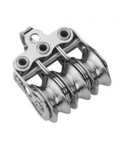 Micro XS Block für Draht 4 mm Kugellager - 3 Rollen, Bügel