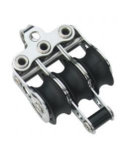 Micro XS Block Kugellager 6 mm - 3 Rollen, Hundsfott, Bügel