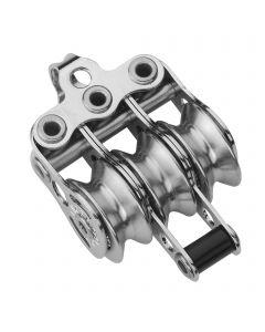 Micro XS Block für Draht 4 mm Kugellager - 3 Rollen, Hundsfott, Bügel