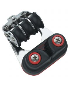 Micro XS Block Kugellager 6 mm - 3 Rollen, Schotklemme, Bügel