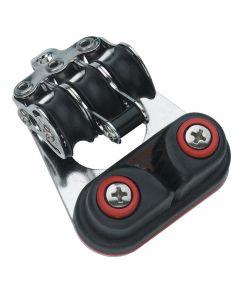 Micro XS Block Kugellager 6 mm - 3 Rollen, Hundsfott, Schotklemme, Bügel