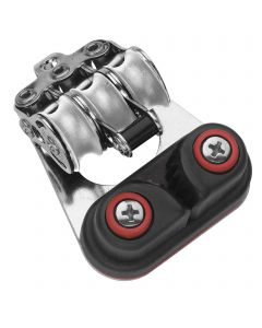 Micro XS Block für Draht 4 mm Kugellager - 3 Rollen Schotklemme, Hundsfott, Bügel