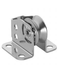Micro XS upright block for wire ball bearing 4 mm - 1 sheave