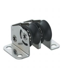 Micro XS Stehblock Kugellager 6 mm - 2 Rollen