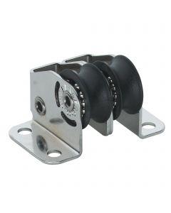 Micro XS upright block ball bearing 6 mm - 2 sheaves