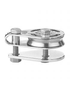 High load cheek block ball bearing 4-6 mm - 1 sheave, hollow axles