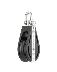 S-Block sliding bearing 12 mm - 1 sheave, swivel