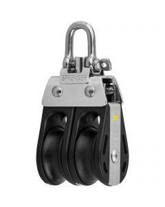 S-Block sliding bearing 8 mm - 2 sheaves, swivel