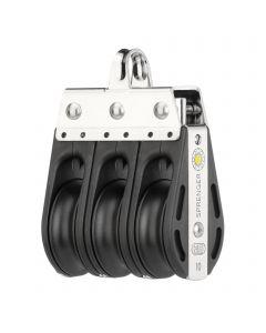 S-Block sliding bearing 10 mm - 3 sheaves, bow