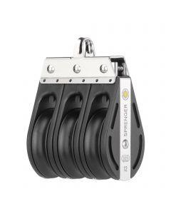 S-Block Gleitlager 12 mm - 3 Rollen, Bügel