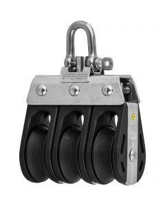 S-Block sliding bearing 8 mm - 3 sheaves, adjustment set