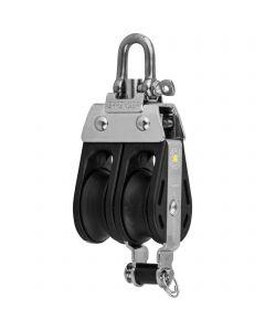 S-Block sliding bearing 8 mm - 2 sheaves, adjustment set, becket