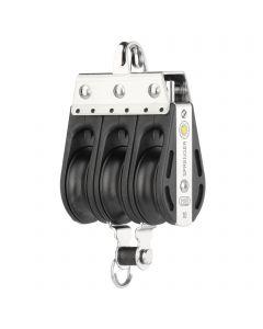 S-Block sliding bearing 10 mm - 3 sheaves, bow, becket