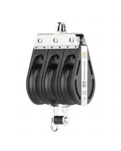 S-Block sliding bearing 12 mm - 3 sheaves, bow, becket