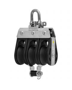 S-Block sliding bearing 8 mm - 3 sheaves, adjustment set, becket