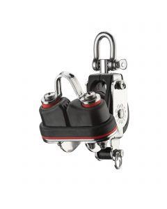 S-Block mainsheet sliding bearing 8 mm - 1 sheave, swivel, becket, cam cleat