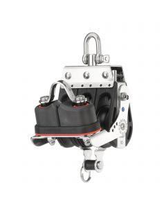 S-Block Großschotblock Nadellager 10 mm - 3 Rollen, Hundsfott, Schotklemme, Wirbel