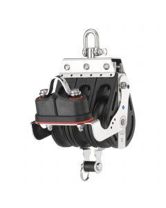 S-Block Großschotblock Nadellager 12 mm -  3 Rollen, Wirbel, Hundsfott, Schotklemme