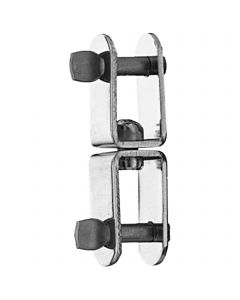 Swivel shackle - stainless steel, 62 x 13 mm