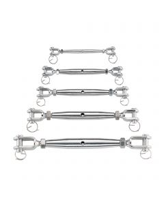 Turnbuckle 2 forks - stainless steel