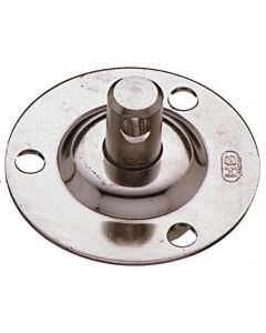 Base plate with bolt for mast foot block