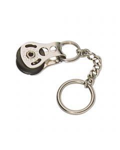 Schlüsselanhänger Micro XS Block - 1 Rolle, Edelstahl rostfrei