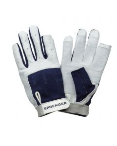 Sailing gloves - calf leather, thumb and index finger without tip